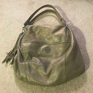 Tory Burch silver handbag